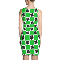St. Patricks Day Dress - Saint Patricks Dress - Clover Dress - Green Checkered Dress - Irish Dress