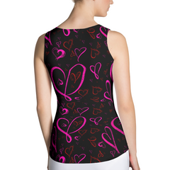 Valentines Day Heart Tank Top - Valentines Day Shirt - Heart Shirt - Valentines Day Costume