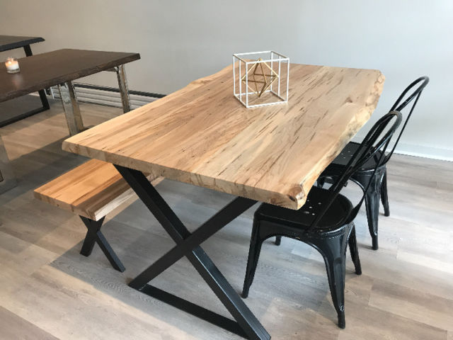 Wormy Maple Dining Table Top   Live Edge ...