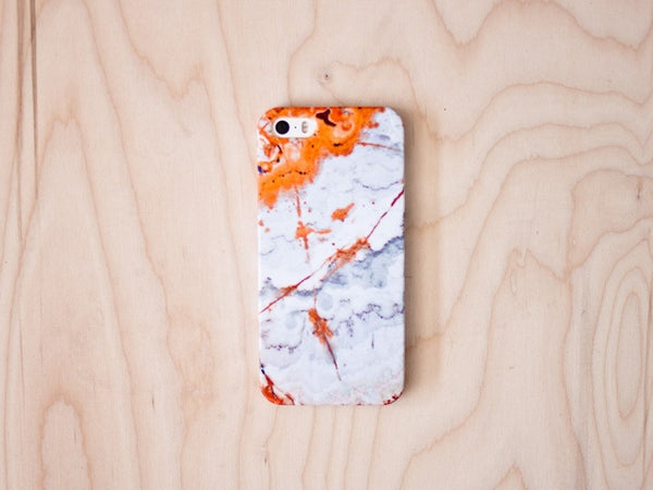 Agate (Orange) Marble iPhone Case 5 / 5S / 5SE