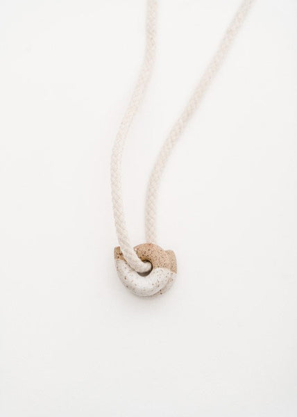 Ceramic Curl Necklace