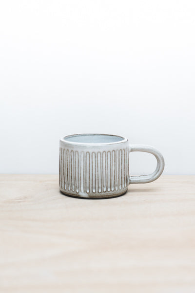 Dark Fluted Ceramic Mug