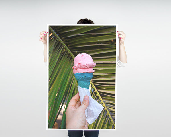 Pink Ice Cream Poster