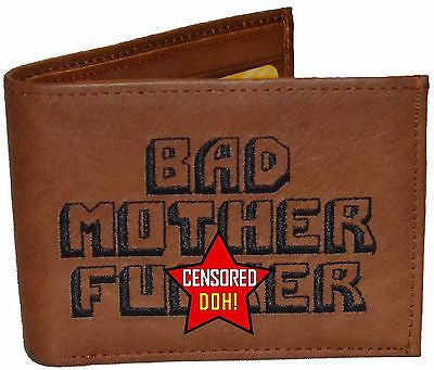 "The Original BMF Brown Leather Wallet ""Over there is Marilyn"""