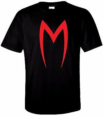 Red M Speed Racer T Shirt 100% Cotton Tee by BMF Apparel
