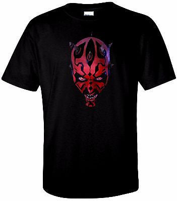 Darth Maul T Shirt Black 100% Cotton Tee by BMF Apparel