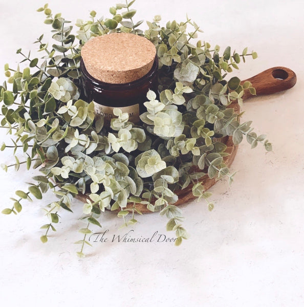 Eucalyptus candle ring- mini wreath