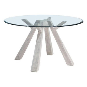 Beaumont Glass Round Dining Table - Benton and Buckley