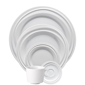 Nendoo White 5 Piece Placesetting - Benton and Buckley