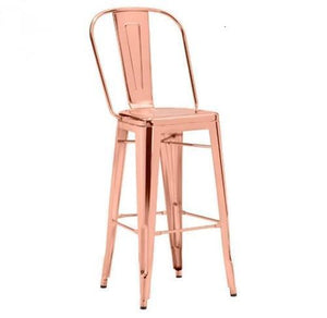 Elio Bar Stool S/2 | Rose Gold - Benton and Buckley