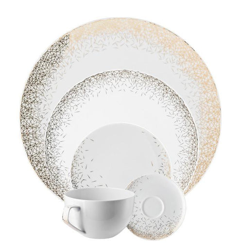 TAC Palazzo - White 5 Piece Placesetting - Benton and Buckley