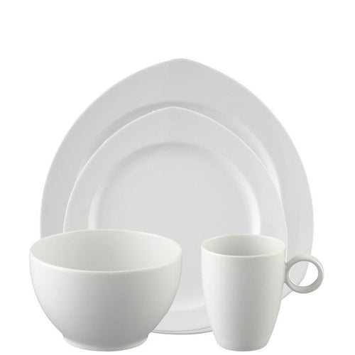 4 Piece Place Setting, Triangle (4 pps) | Vario White - Benton and Buckley