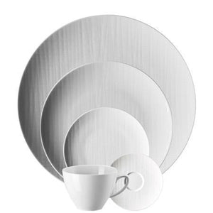 Rosenthal Classic Mesh White  5 Piece Place Setting (5 pps) - Benton and Buckley