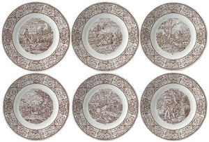 GIEN Set of 6 Hunting Dessert Plates - GDH | The decorators department Store