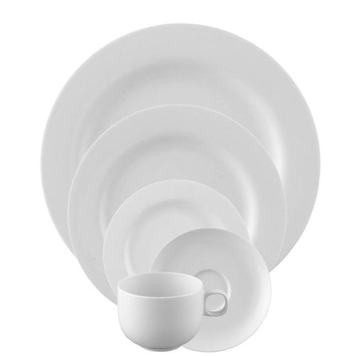Moon White 5 Piece Placesetting - Benton and Buckley