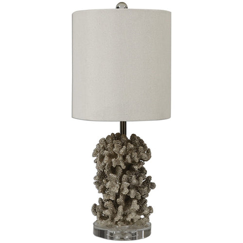 Antiqued Silver Coral Table Lamp - Benton and Buckley