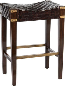 Braided Leather Bar Stool - Benton and Buckley