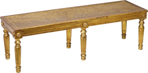 Gilded Wood Louis XVI Style bench