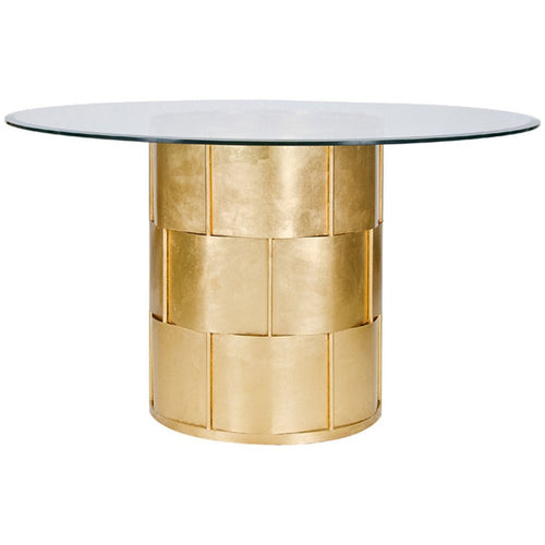 Amanda Gold 54 Inch Round Dining Table - Benton and Buckley