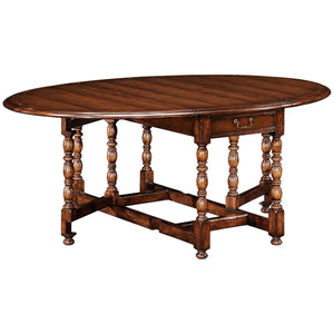 Country Farmhouse Oval Walnut Gateleg Table - Benton and Buckley