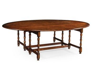 Oval Walnut Gateleg table (Large) - Benton and Buckley