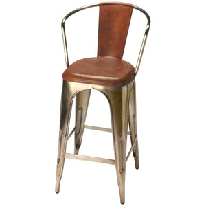 Roland Iron & Leather Barstool - Benton and Buckley