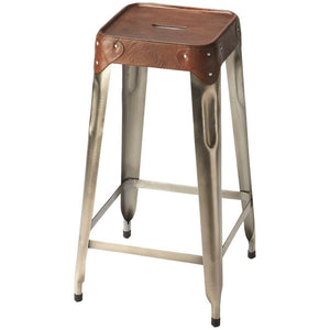 Connor Iron & Leather Barstool - Benton and Buckley