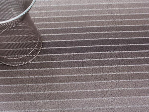 Block Stripe Indoor/Outdoor Mat | Taupe - Benton and Buckley