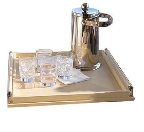 Wrapped Handle Tray- Ivory - Benton and Buckley