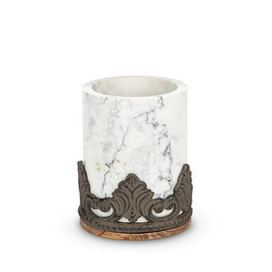 GG Collection Marble Wood Utensil Holder - Benton and Buckley