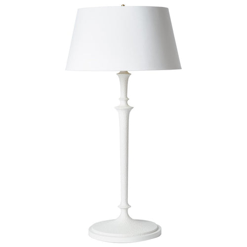 BARBARA COSGROVE Molded Plaster Table Lamp | White - GDH | The decorators department Store