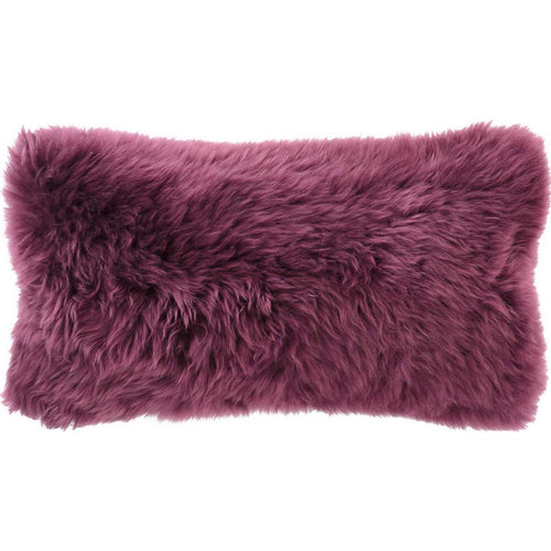 Boysenberry Longwool Combed Pillow - 11
