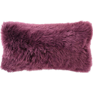 "Boysenberry Longwool Combed Pillow - 11""x22"" - Benton and Buckley"