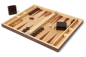 Collector's Edition Backgammon with Walnut and Oak Finish - CITY LIFE CATALOG - 1