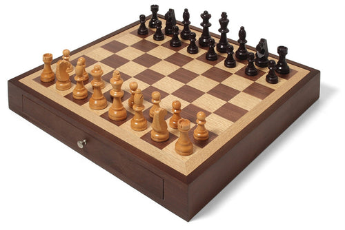 Collector's Edition Chess Set with Walnut and Oak Finish - CITY LIFE CATALOG - 1
