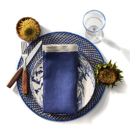 Calypso Rattan Placemat S/2 | 8 Colors - Benton and Buckley