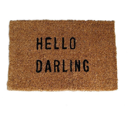 Hello Darling Doormat - CITY LIFE CATALOG