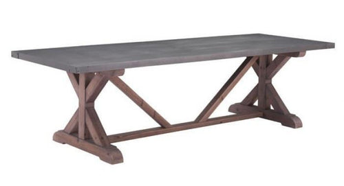 Durham Dining Table Gray & Distressed Fir - Benton and Buckley