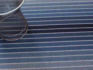 Block Stripe Indoor/Outdoor Mat | Denim - Benton and Buckley