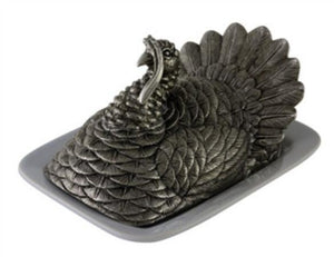 Pewter Turkey Butter Dish - Benton and Buckley