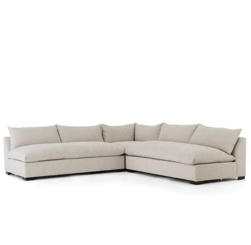 Grant 3 Piece Sectional | Oatmeal - Benton and Buckley