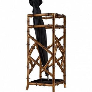 Gold Iron Bamboo Umbrella Stand - GDH | The decorators department Store