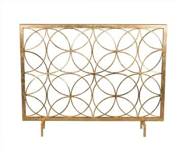 Antique Gold Circles Firescreen - GDH | The decorators department Store