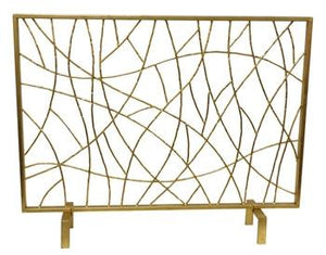 Gold Twig Firescreen - GDH | The decorators department Store