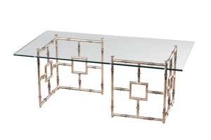 Bamboo Float Cocktail Table | Silver
