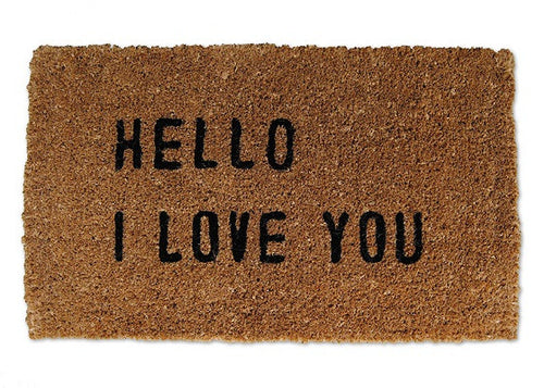 Hello I Love You Doormat - CITY LIFE CATALOG