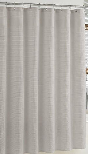 Hotel Waffle -weave Shower Curtain | Grey - Benton and Buckley