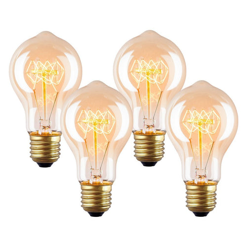 Set Of 4 - Darby A19 Vintage Edison Bulbs 40W - Benton and Buckley