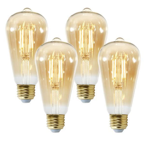 Set Of 4 - Holland ST21 Amber LED Vintage Filament Lights - Benton and Buckley