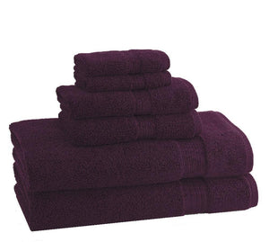 Classic Egyptian Towels | Set of 6 | Plum - Benton and Buckley